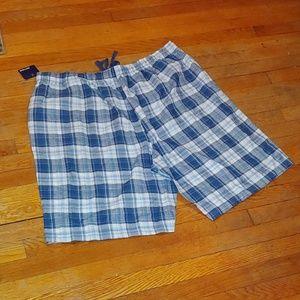 Basic Editions Shorts - 🆕 NWT Men's plaid lounge shorts size xxl